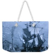 Blame It On The Rum Schooner Weekender Tote Bag by John Stephens