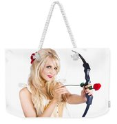 Blond Woman With Cupid Bow Weekender Tote Bag