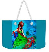 Blue Compliments Weekender Tote Bag