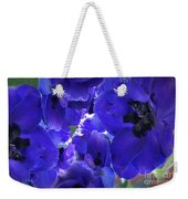 Blue Dream Floral Weekender Tote Bag