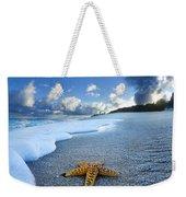 Blue Foam Starfish Weekender Tote Bag
