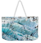 Blue Glacier Ice Background Texture Pattern Weekender Tote Bag