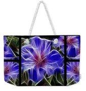 Blue Hibiscus Fractal Weekender Tote Bag