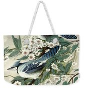 Blue Jays And Blossoms Weekender Tote Bag