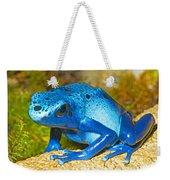Blue Poison Dart Frog Weekender Tote Bag
