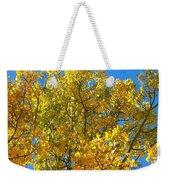 Blue Skies And Golden Aspen Trees Weekender Tote Bag