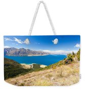 Blue Surface Of Lake Hawea In Central Otago In New Zealand Weekender Tote Bag