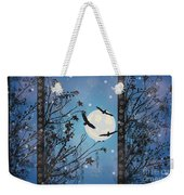 Blue Winter Weekender Tote Bag
