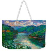 Bluestone Lake Weekender Tote Bag