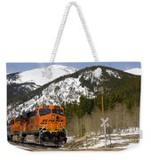 Bnsf Rolls Through Rollins Pass Colorado Weekender Tote Bag