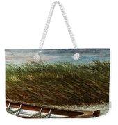 Boat On Shore Weekender Tote Bag