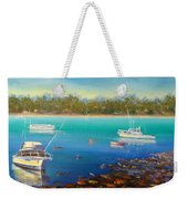 Boats At Merimbula Australia  Weekender Tote Bag