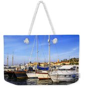 Boats At St.tropez Weekender Tote Bag by Elena Elisseeva