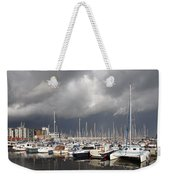 Boats In A Marina Weekender Tote Bag