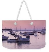 Boats In The Atlantic Ocean At Dawn Weekender Tote Bag