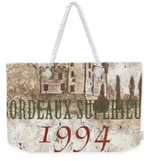 Bordeaux Blanc Label 2 Weekender Tote Bag