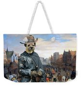 Border Terrier Art Canvas Print Weekender Tote Bag