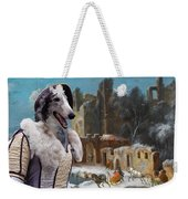Borzoi - Russian Wolfhound Art Canvas Print Weekender Tote Bag