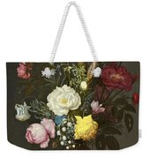 Bouquet Of Flowers In A Glass Vase Weekender Tote Bag