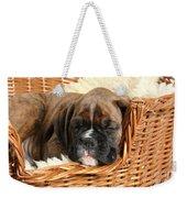Boxer Puppy Weekender Tote Bag