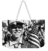 Boy Scout Veteran's Day Parade Tucson Arizona 1990 Black And White Weekender Tote Bag