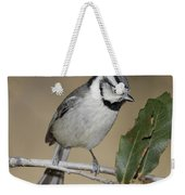 Bridled Titmouse Weekender Tote Bag