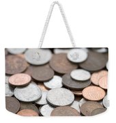 British Coins Sterling Full Frame Weekender Tote Bag