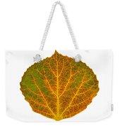 Brown Green Orange And Yellow Aspen Leaf 1 Weekender Tote Bag