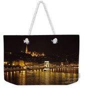 Budapest At Night Weekender Tote Bag
