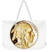 Buffalo Nickel Weekender Tote Bag by Fred Larucci