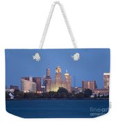 Buffalo Skyline From Fort Erie At Dusk Weekender Tote Bag