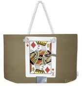 Bullet Piercing Playing Card Weekender Tote Bag by Gary S. Settles