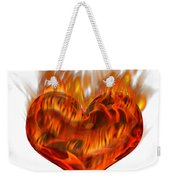 Burning Love  Brennende Liebe Weekender Tote Bag