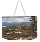 Burnt Blueberry Field In Maine Weekender Tote Bag