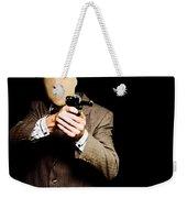 Business Man Or Corporate Crook Holding Gun Weekender Tote Bag
