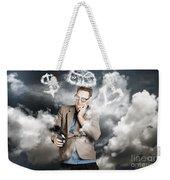 Business Man Planning Work Life Balance Strategy Weekender Tote Bag