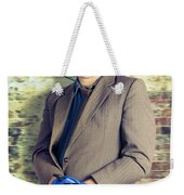 Businessman In Stress With Hands Bound Up Weekender Tote Bag