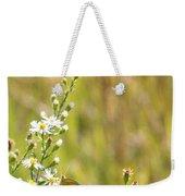 Butterfly In A Field Of Flowers Weekender Tote Bag