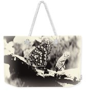 Butterfly In Black And White  Weekender Tote Bag