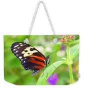 Butterfly On Bush Weekender Tote Bag