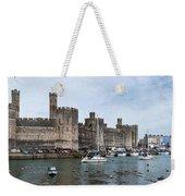 Caernarfon Castle Panorama Weekender Tote Bag