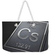 Caesium Chemical Element Weekender Tote Bag