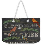 Camping Rules-d Weekender Tote Bag