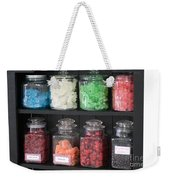 Candy In Container On Store Shelf Weekender Tote Bag