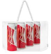 Cans Of Budweiser Beer Weekender Tote Bag
