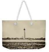 Cape May Lighthouse In Sepia Weekender Tote Bag