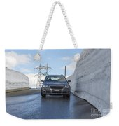 Car And Snow Wall Weekender Tote Bag
