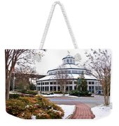Carousel Building In The Snow Weekender Tote Bag by Tom and Pat Cory