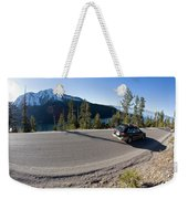 Cars Driving Along Hwy 89 Over Emerald Weekender Tote Bag