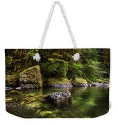 Cascade Locks, Oregon, Usa. A Woman Weekender Tote Bag